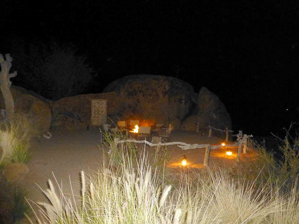Sundowner Platz auf Mowani. Wunderschöne Lodge.