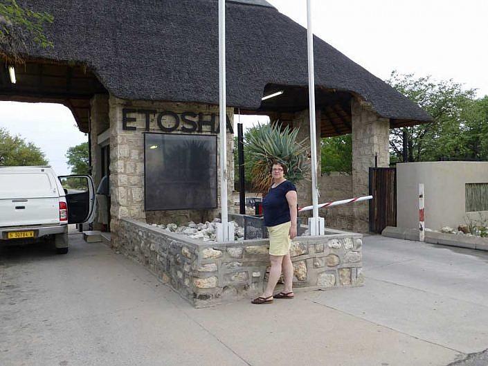 Eingang zum Etoscha Nationalpark.