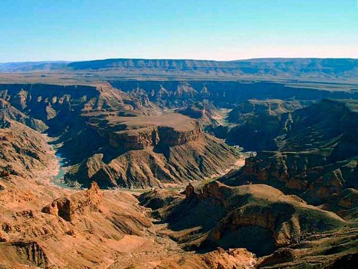 Fish Rriver Canyon im Süden Namibias. Der zweitgrößte Canyon der Welt.