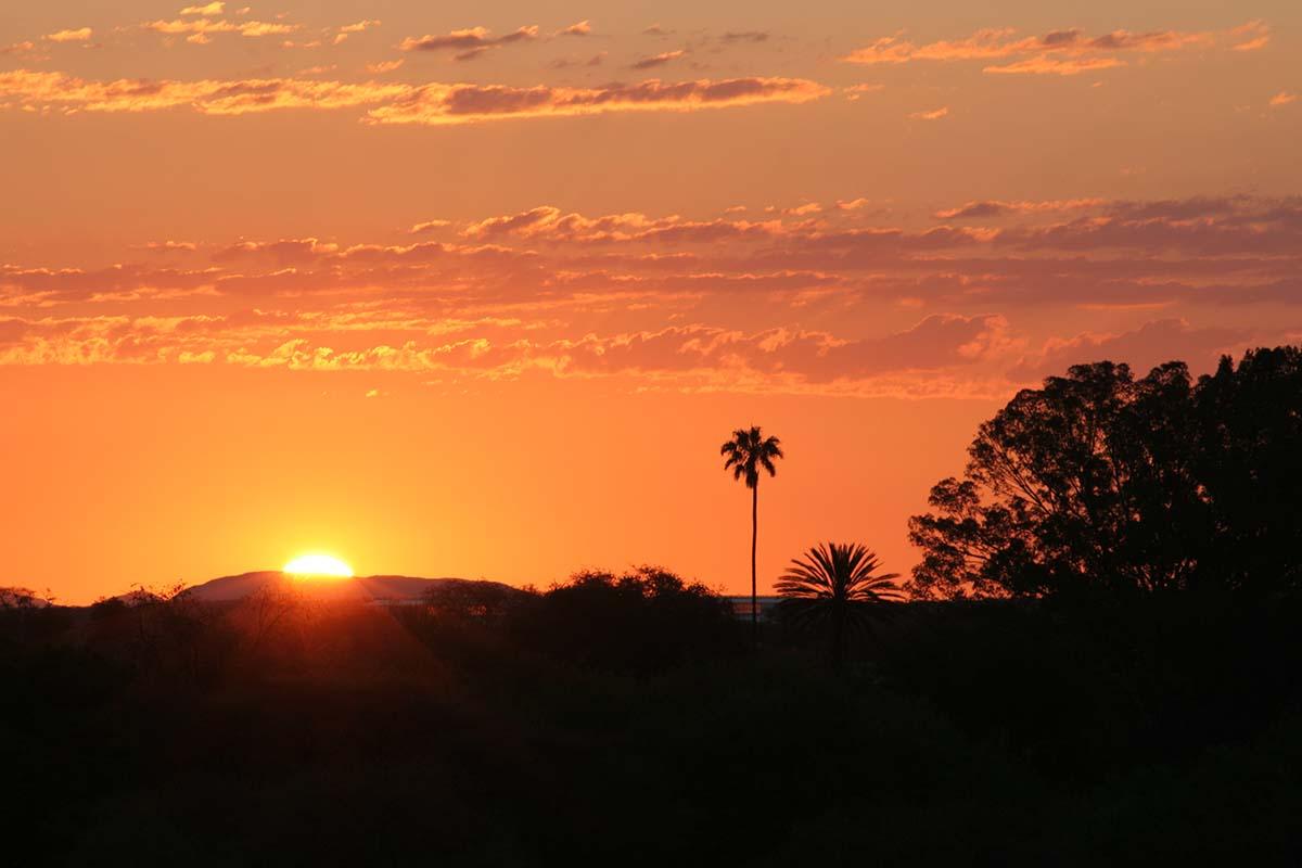Sunset über Namibia.