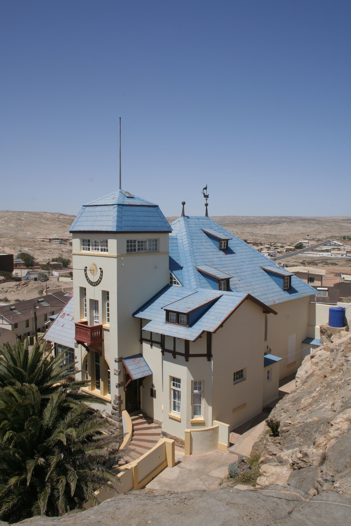 Goerke Haus in Lüderitz. Nationales Denkmal.