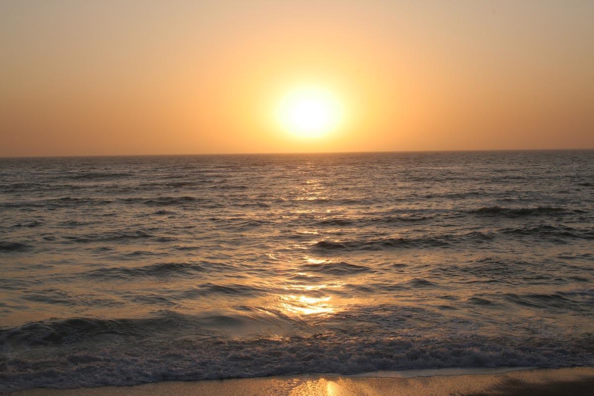 Sonnenuntergang über dem Atlantik.