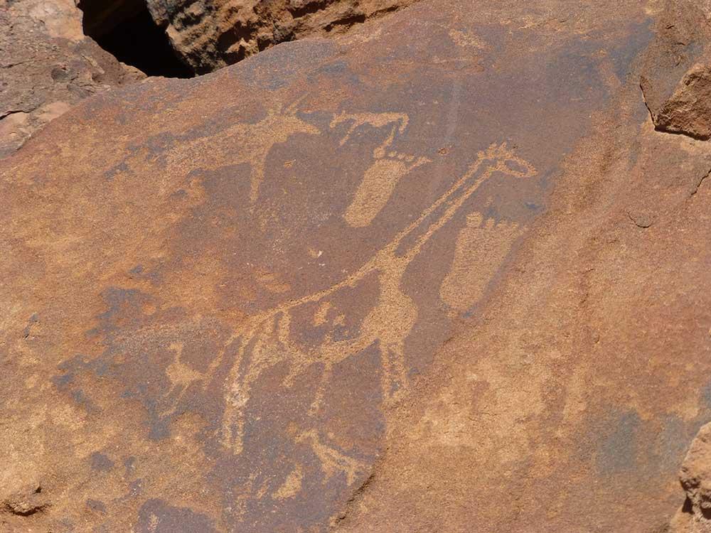 Felsmalereien, Twyfelfontain in Namibia.