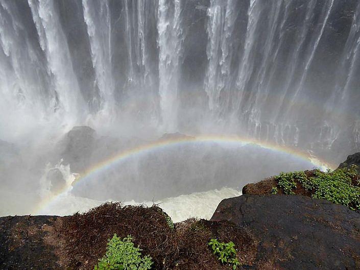 Victoriafälle in Simbabwe.