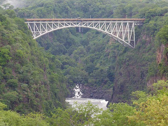 Victoria Falls Brücke.