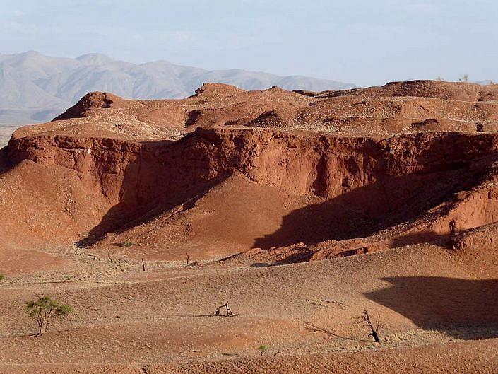 Versteinerte Dünen in der Namib.