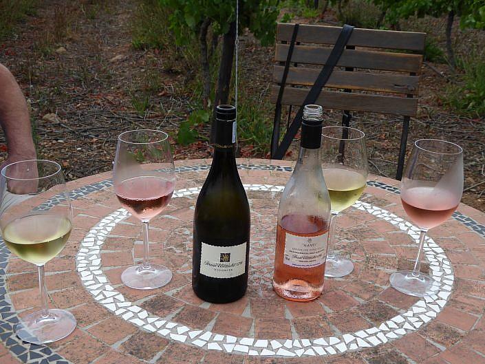 Weinprobe in Robertson.